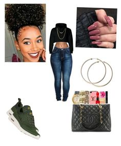 """""""💚"""" by kiah-monea ❤ liked on Polyvore featuring NIKE"""