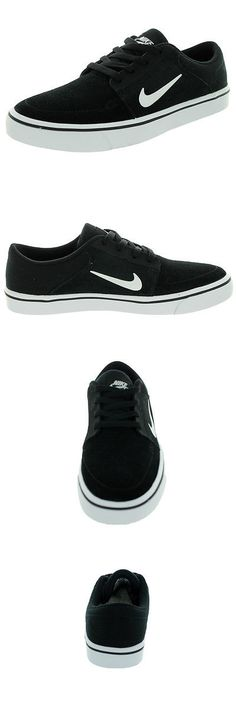 Youth 159072: Nike Kids Sb Portmore (Gs) Black White White Skate Shoe 7