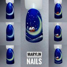 Christmas Nails For Beautiful Holiday Fashion Chrismas Nail Art, Chistmas Nails, Nail Art Noel, Snowman Nails, Xmas Nails, Holiday Nails, Red Nails, Love Nails, Pretty Nails