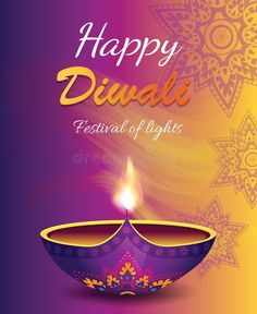 Happy Diwali Festival of Light Vector Illustration royalty free illustration Happy Diwali Pictures, Happy Diwali Wishes Images, Diwali Greeting Cards, Diwali Greetings, Bahubali Movie, Diwali Poster, Diwali Festival Of Lights, Diwali Diya, Festivals Of India