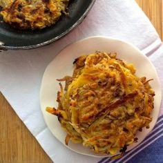 Apple and caramelized potato pancake