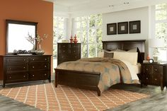 Warm tones for fall 2015. This bedroom collection is available at Levin Furniture. #newarrivals #fallfurniture #2015trendsforfall