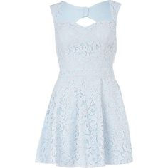 light blue lace skater dress - skater dresses - dresses - women - River Island