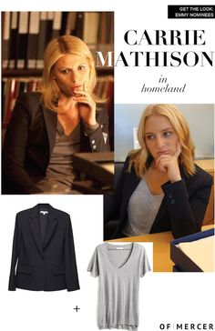 Carrie Mathison, Emmy Nominees, Claire Danes, Homeland, Get The Look, Everyday Fashion, Carry On, Work Wear, Blazers