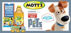 """Need healthy snack ideas for kids to take to the pool and on picnics this summer? Find out how stocking up on Mott's® products at Walmart can save you money and help you score FREE movie tickets to see """"The Secret Life of Pets"""" which hits theaters July 8.  #MottsMovieBonus #ad"""
