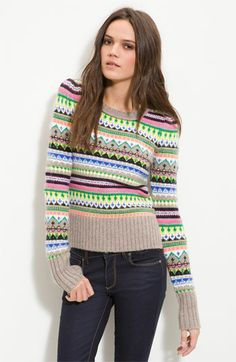 Juicy Couture Bright Fair Isle Sweater - Cute and cozy