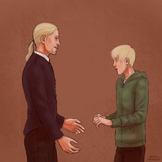 Draco and Scorpius Harry Potter Draco Malfoy, Harry Potter Fan Art, Harry Potter Universal, Draco Malfoy Imagines, Harry Potter Fandom, Harry Potter Hogwarts, Scorpius And Albus, Scorpius Malfoy, Familia Weasley