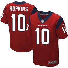 Nike Elite DeAndre Hopkins Red Men's Jersey - Houston Texans #10 NFL Alternate