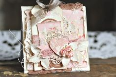 Here is a Valentine's card using the romantic Paris Flea Market collection.Have a nice day!/EwaPion products:Paris Flea Market - Pink fabric PD5704FParis Flea Market - Forget me not PD5706BParis Flea Market - Tags PD5712FParis Flea Market - Tags PD5712 B