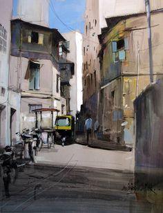 Milind Mulick Light n the narrow lane...