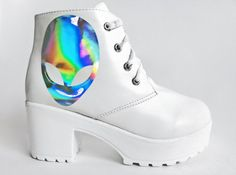 Cyber Alien Head Boots via Etsy
