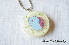 Bravest Warriors Inspired Catbug Resin Pendant by LeadFootJewelry