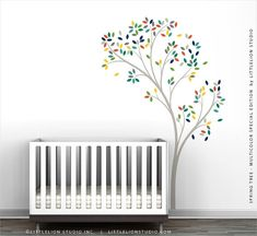 Spring Tree Wall Decal  Multicolor Special by LeoLittleLion
