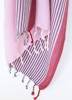 Pink Turkish Towel (Bath) - Rio available at www.tonicliving.com #pamukandco