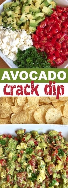 Avocado Crack Dip is part of Finger foods easy - Quick and easy avocado crack dip recipe The BEST make ahead dip you will ever make! Serve it up with chips for a party appetizer everyone will love Tasty Vegetarian, Clean Eating Snacks, Healthy Eating, Comida Latina, Appetizer Recipes, Appetizer Ideas, Meat Appetizers, Easy Party Appetizers, Avacado Appetizers