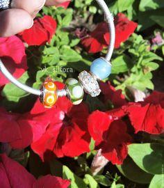 Купить Природный аквамарин, шарм - голубой, серебро 925, шарм пандора, шармик, аквамарин, подарок