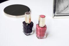 Vernis à l'huile Color Riche de L'Oréal Paris - 556 Grenat Irrévérent - 224 Rose Ballet  www.ladyjolie.com/fr/vaut-vernis-a-lhuile-de-loreal/ #Vernis #LOreal #LOrealParis #ColorRiche