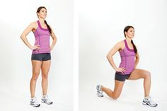 How to Do Walking Lunges - This is another great exercise for your hips, thighs, butt and hamstrings. You can do these holding hand weights to make it harder, or just use your body weight. If you're just starting out, you'll find they work you hard enough without weights. If you don't have enough room to walk forward, you can step one... http://www.mumslounge.com.au/lifestyle/fitness/852-how-to-do-walking-lunges.html