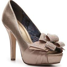 champagne steve maddens. $50. Thought this would go perfect with your dress Heather!