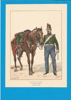 France-Planche de JOB - Corps des Douanes -1845.Cavalier d'ordre.