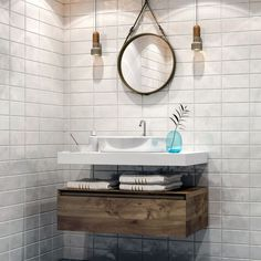 Pimp the bathroom: With THIS 18 tricks, your bathroom will be super stylish! - The most beatiful home designs Modern Bathroom Decor, Kitchen Trends, Diy Kitchen, Kitchen Ideas, Home Remodeling, Home Accessories, Living Spaces, House Design, Mirror
