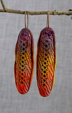 Seedpod earrings - Christine Damm