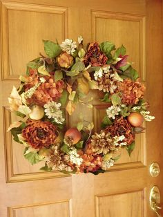 Summer/Fall Wreath, Autumn Wreath, Fall Door Wreath, Outdoor Wreath , Indoor Wreath , Artificial Fall Wreath Because of the many requests for an artificial version of my natural Best Of Fall Wreath I have created several different designs for the 2017 fall season. These gorgeous wreaths are filled with beautiful fall colored dahlias, hydrangea, peonies, berries, foliage, berries and wild vines to create a natural look. All floral arrangements are handmade in my studio, they are unmatche...