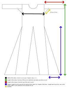 Viking dress – pattern and instruction                                                                                                                                                                                 More