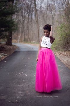 How to Wear a hot pink #TulleSkirt