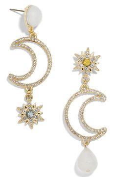 dcda5c8c7 BaubleBar Chiron Pavé Star & Moon Drop Earrings | Nordstrom