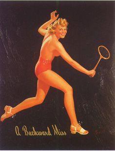 Tenis | Al Buell Pin-Up artist | American beauty #Pin-Ups #Vintage #deFharo #Posters #USA #Retro