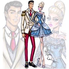 "Hayden Williams on Instagram: ""'Disney Darling Couples' by Hayden Williams: Cinderella & Prince Charming #Disney"""