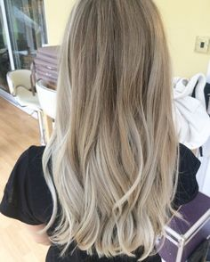 Icy blonde balayage