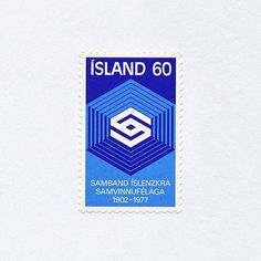75th Anniversary of the Federation of Icelandic Co-operative Societies (60). Iceland, 1977. Design: Þröstur Magnússon. #mnh #graphilately