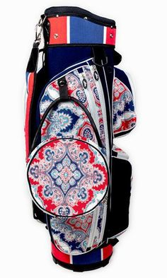 Sassy Caddy Sparkly Ladies Golf Bag. A fashionable and sturdy women's cart bag featuring all the necessary elements to make the perfect golf bag including: weather resistant fabric, 14 full length div