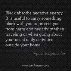 Another reason to love the color #black! #positivityincolor