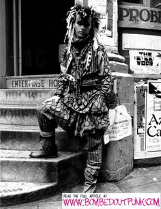 A Bombed Out Book Tour of Liverpool City Centre: The Site Of Probe Records. Pete Burns outside Probe Records early 1980s