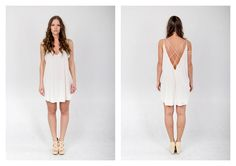 PARADOX SS15 'Details' Collection White strapped dress - 19.000HUF