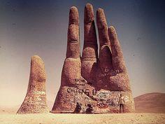 La Mano del Desierto, Atacama Desert, Chile. Artist: Mario Irarrázabal ~ by Leandro Wieczorek, via Flickr