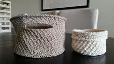 Crochet baskets.  Pattern by Tove Fevang