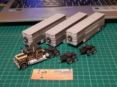 MACK Super Liner &Wilson trailer papercraft 1:100