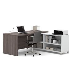Bestar Pro-Linea L-Desk | Overstock.com Shopping - The Best Deals on L-Shape Desks