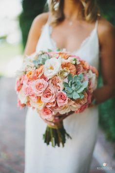 Beachy bouquet: http://www.stylemepretty.com/california-weddings/malibu/2015/04/15/bohemian-beachfront-malibu-wedding/   Photography: Readyluck - http://readyluck.com/