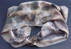 Fine Linen and Ahimsa Peace Silk Reversible Wrap   by SheGathers