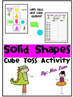 Are your students learning about basic 3-D shapes? This fun game makes a great center, workstation, whole-class, or one-on-one activity! Save your valuable time and print this ready-to-use geometry activity that reinforces 3-D shape recognition! Fun & engaging for students of various ages!