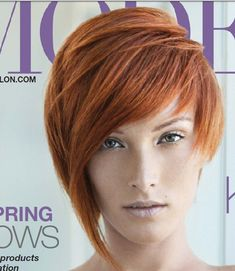 Short stylish bob red hair cut, feminine. @ The Beauty ThesisThe Beauty Thesis