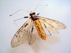 Winged Insects Made From Old Computer Circuit Boards And Electronics | Bored Panda