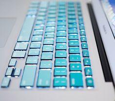 Macbook pro decal Macbook Keyboard Decal Macbook Pro Keyboard Skin Blue Macbook Air Sticker apple keyboard Macbook vinyl sticker