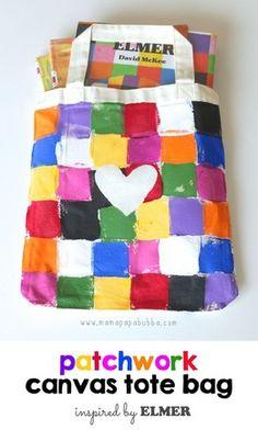 6 Elmer Activities {homegrown friends}. teachers. parents. diy tote bag