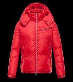 Achetez Moncler Homme Doudoune BRAD Capuche veste pour homme Rouge chine b5917c016b2
